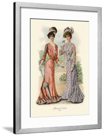 Afternoon Gowns--Framed Art Print