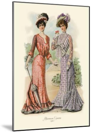 Afternoon Gowns--Mounted Art Print