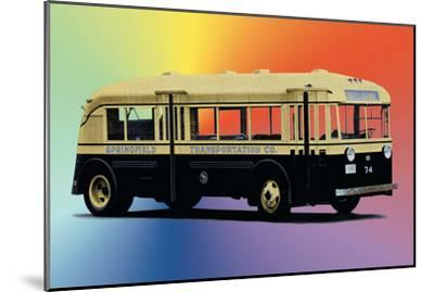 Springfield Transportation Company Bus--Mounted Art Print