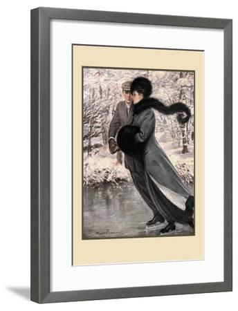 Winter's Date-Clarence F^ Underwood-Framed Art Print