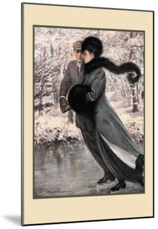 Winter's Date-Clarence F^ Underwood-Mounted Art Print
