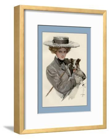 Isn't He Sweet?-Harrison Fisher-Framed Art Print