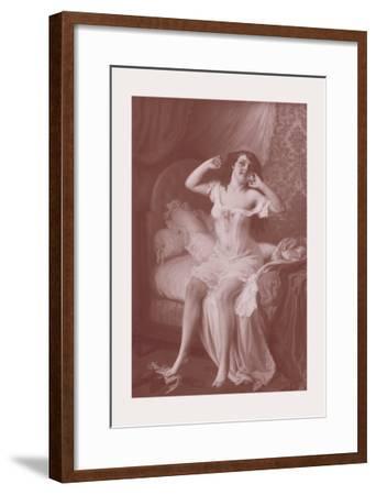Au Lever-Jules Scalbert-Framed Art Print