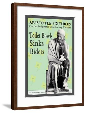 Aristotle Fixtures: For the Peripatetic or Sedentary Thinker--Framed Art Print