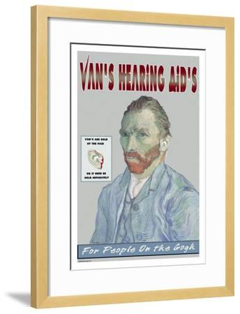 Van's Hearing Aids: For People on the Gogh--Framed Art Print