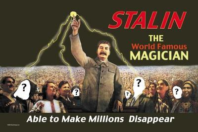 Stalin: The World Famous Magician--Stretched Canvas Print