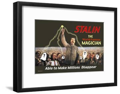 Stalin: The World Famous Magician--Framed Art Print