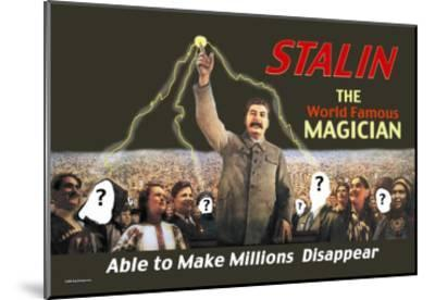 Stalin: The World Famous Magician--Mounted Art Print