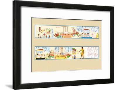 The Funeral Procession-J. Gardner Wilkinson-Framed Art Print