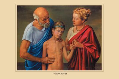 Hippocrates-Robert Thom-Stretched Canvas Print