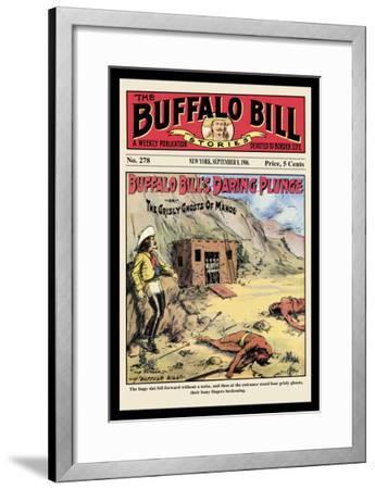The Buffalo Bill Stories: Buffalo Bill's Daring Plunge--Framed Art Print