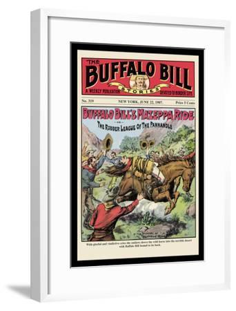 The Buffalo Bill Stories: Buffalo Bill's Mazeppa Ride--Framed Art Print
