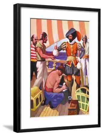 Blackbeard-George Taylor-Framed Art Print