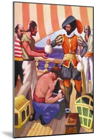 Blackbeard-George Taylor-Mounted Art Print