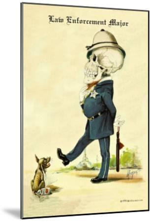 Law Enforcement Major-F. Frusius M.d.-Mounted Art Print