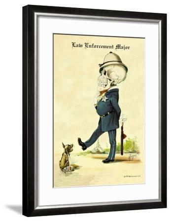 Law Enforcement Major-F. Frusius M.d.-Framed Art Print