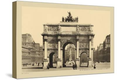 Carousal Triumphal Arch and Monument Gambetta-Helio E. Ledeley-Stretched Canvas Print