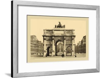 Carousal Triumphal Arch and Monument Gambetta-Helio E. Ledeley-Framed Art Print