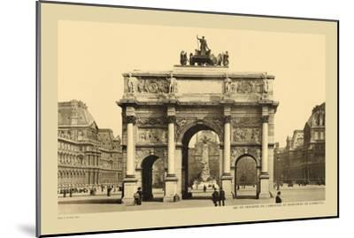 Carousal Triumphal Arch and Monument Gambetta-Helio E. Ledeley-Mounted Art Print