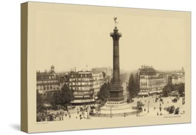 Bastille Place, July Column-Helio E. Ledeley-Stretched Canvas Print