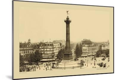 Bastille Place, July Column-Helio E. Ledeley-Mounted Art Print