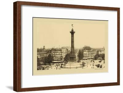 Bastille Place, July Column-Helio E. Ledeley-Framed Art Print