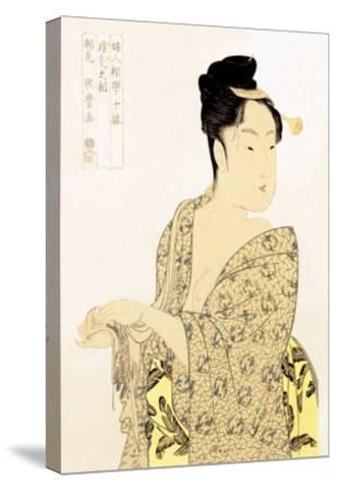 The Hedonist-Kitagawa Utamaro-Stretched Canvas Print