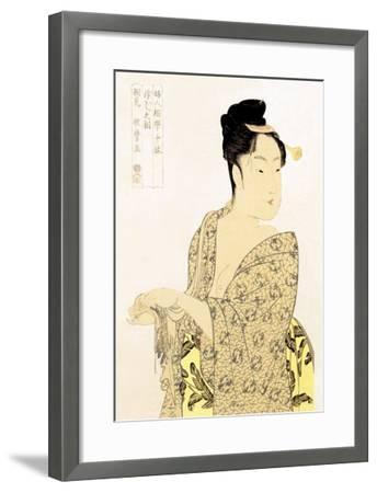 The Hedonist-Kitagawa Utamaro-Framed Art Print