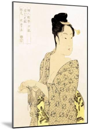 The Hedonist-Kitagawa Utamaro-Mounted Art Print