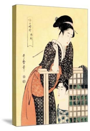 Early Afternoon: The Hour of the Ram-Kitagawa Utamaro-Stretched Canvas Print