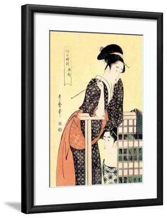 Early Afternoon: The Hour of the Ram-Kitagawa Utamaro-Framed Art Print