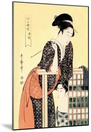 Early Afternoon: The Hour of the Ram-Kitagawa Utamaro-Mounted Art Print