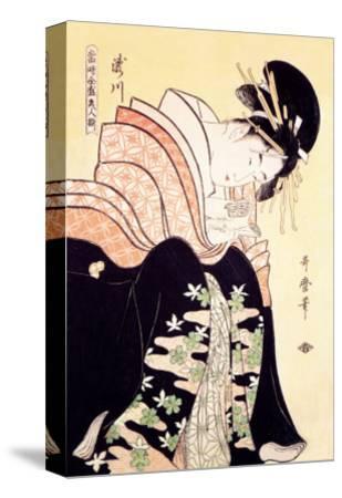 Love Letter-Kitagawa Utamaro-Stretched Canvas Print