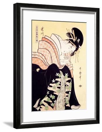 Love Letter-Kitagawa Utamaro-Framed Art Print
