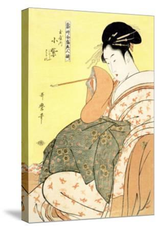 Reigning Beauties: Leisure Time-Kitagawa Utamaro-Stretched Canvas Print