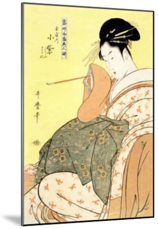 Reigning Beauties: Leisure Time-Kitagawa Utamaro-Mounted Art Print