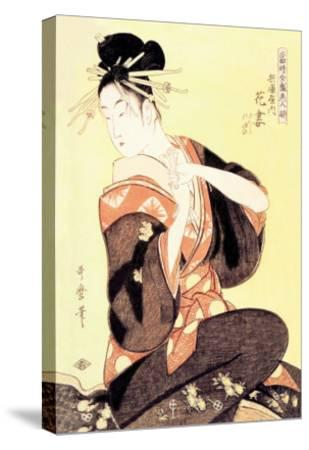 Reigning Beauty: Hanozuma-Kitagawa Utamaro-Stretched Canvas Print