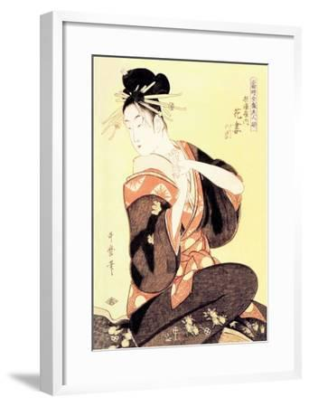 Reigning Beauty: Hanozuma-Kitagawa Utamaro-Framed Art Print
