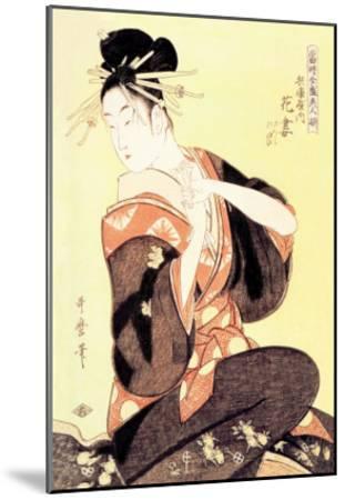Reigning Beauty: Hanozuma-Kitagawa Utamaro-Mounted Art Print