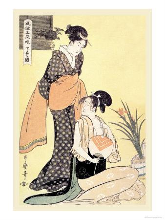 Japanese Domestic Scene-Kitagawa Utamaro-Framed Art Print