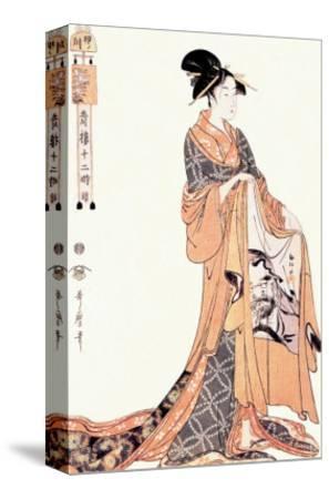 The Hour of the Hare-Kitagawa Utamaro-Stretched Canvas Print