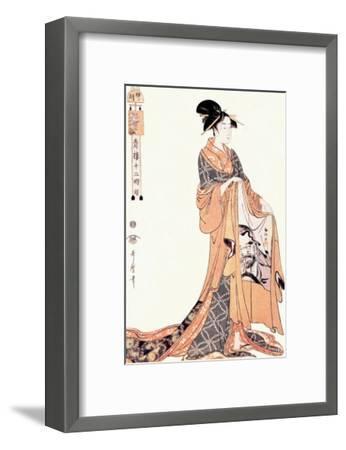 The Hour of the Hare-Kitagawa Utamaro-Framed Art Print