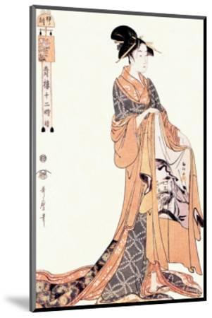 The Hour of the Hare-Kitagawa Utamaro-Mounted Art Print