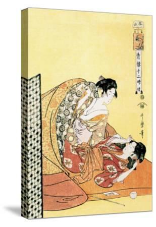 The Hour of the Dragon-Kitagawa Utamaro-Stretched Canvas Print