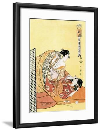 The Hour of the Dragon-Kitagawa Utamaro-Framed Art Print