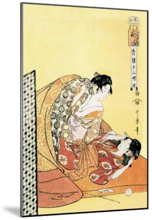 The Hour of the Dragon-Kitagawa Utamaro-Mounted Art Print