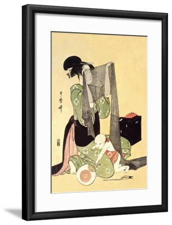 Japanese Mother and Child-Kitagawa Utamaro-Framed Art Print