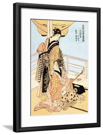 Two Musicians-Kitagawa Utamaro-Framed Art Print