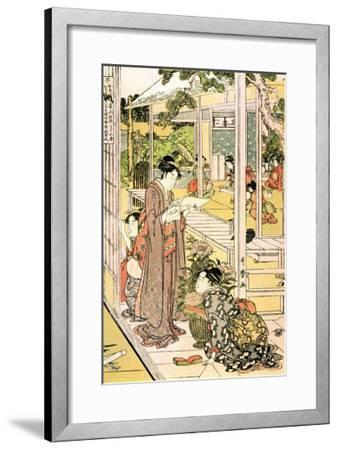 Domestic Scene-Kitagawa Utamaro-Framed Art Print