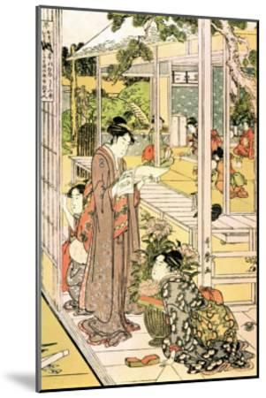 Domestic Scene-Kitagawa Utamaro-Mounted Art Print